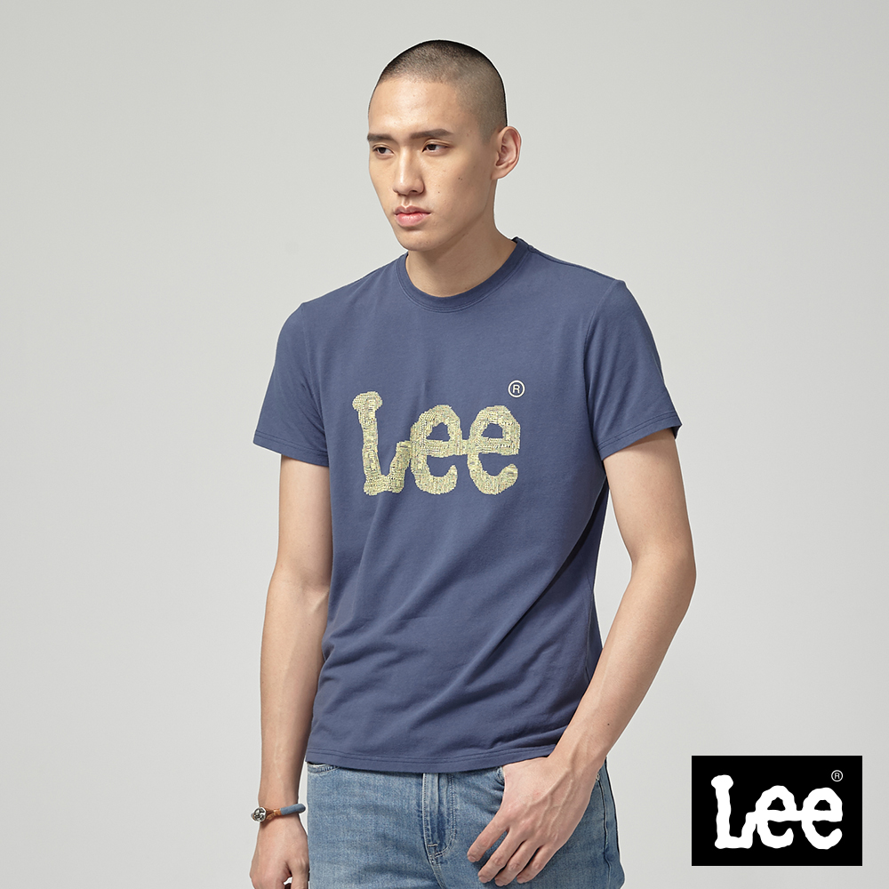 Lee ART IS EVERYTHING LOGO短袖圓領T恤-丈青