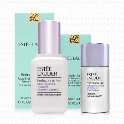 【真品平輸】ESTEE LAUDER Pro極速淨膚精華50ml+Pro全能防曬礦物隔離乳30ml