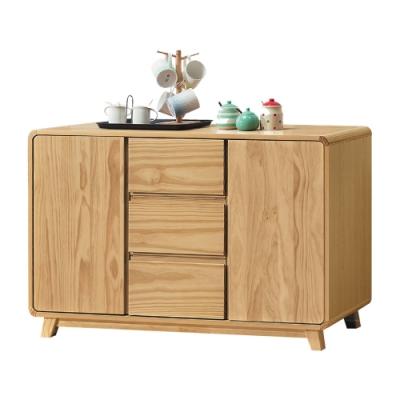 綠活居 普菲納現代風4尺實木二門餐櫃/收納櫃-120x45x78cm免組