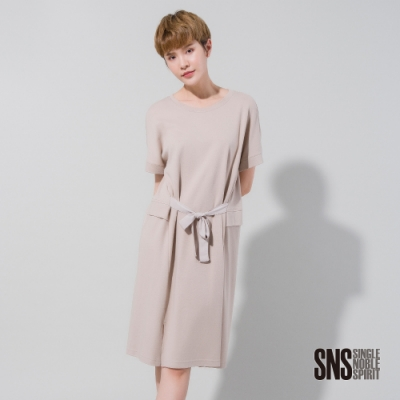 SNS 日常隨興腰綁帶純棉洋裝(<b>2</b>色)