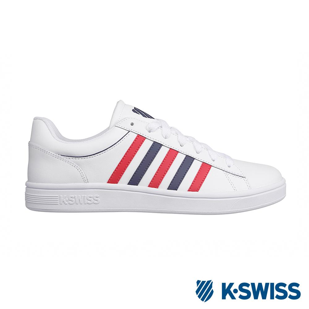 K-SWISS Court Winston休閒運動鞋-男-白/紅/藍