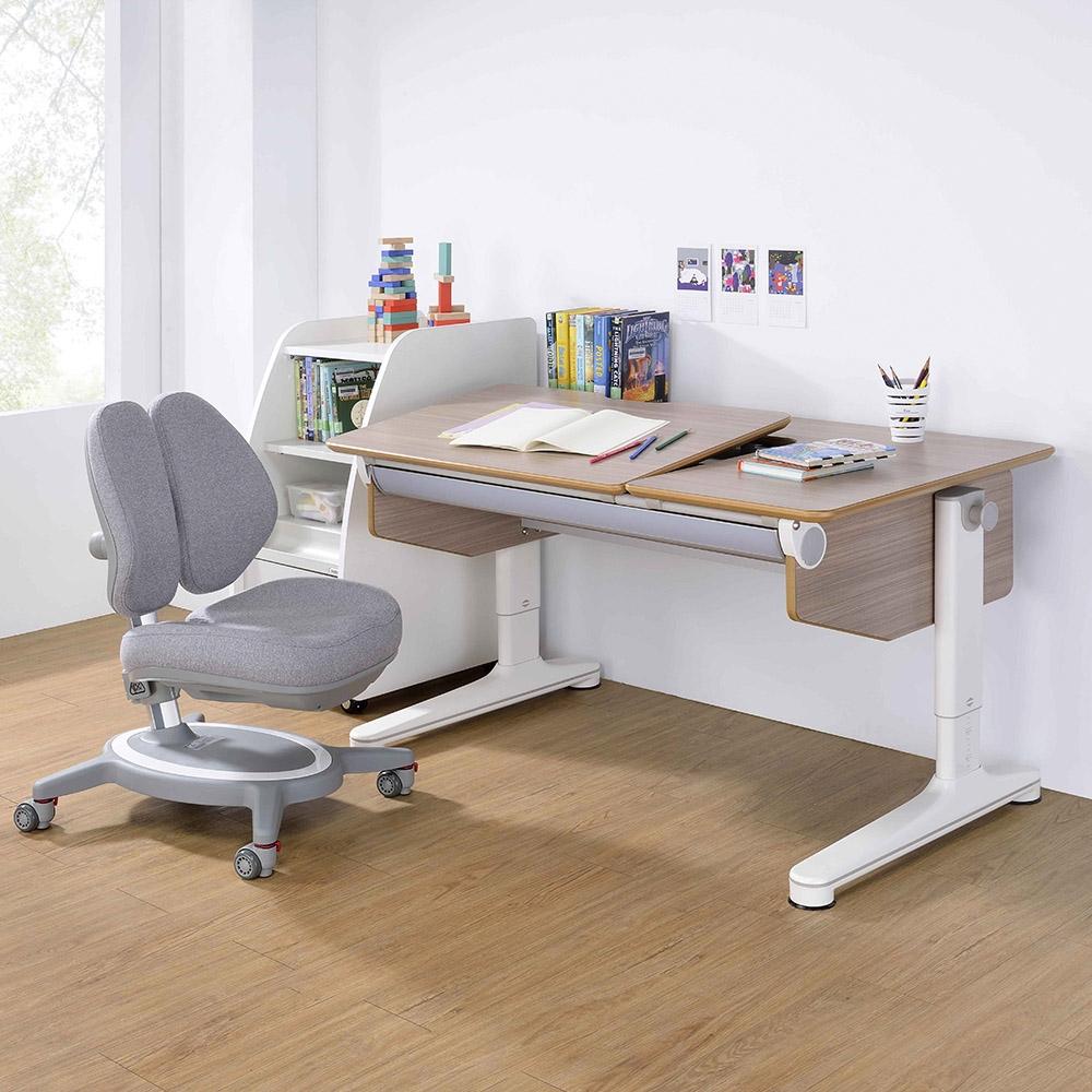 【coobee】兒童成長桌椅 CB-602 L板成長機能桌+132雙背椅