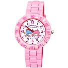 Sanrio三麗鷗 數字轉圈系列手錶KIKILALA雙子星34mm粉紅色