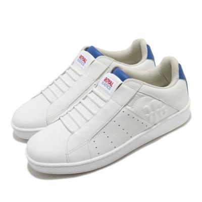 Royal Elastics 休閒鞋 Icon Genesis 套腳 男鞋 輕便 舒適 皮革 簡約 質感 易穿脫 白 藍 01902005