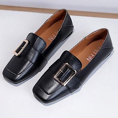 韓國KW美鞋館 優雅超軟百搭開叉懶人鞋-黑色