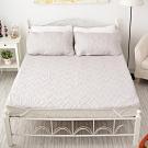 BUHO布歐 防水平單式竹炭保潔墊+枕墊組─單人