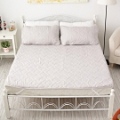 BUHO布歐 防水平單式竹炭保潔墊+枕墊組─雙人特大