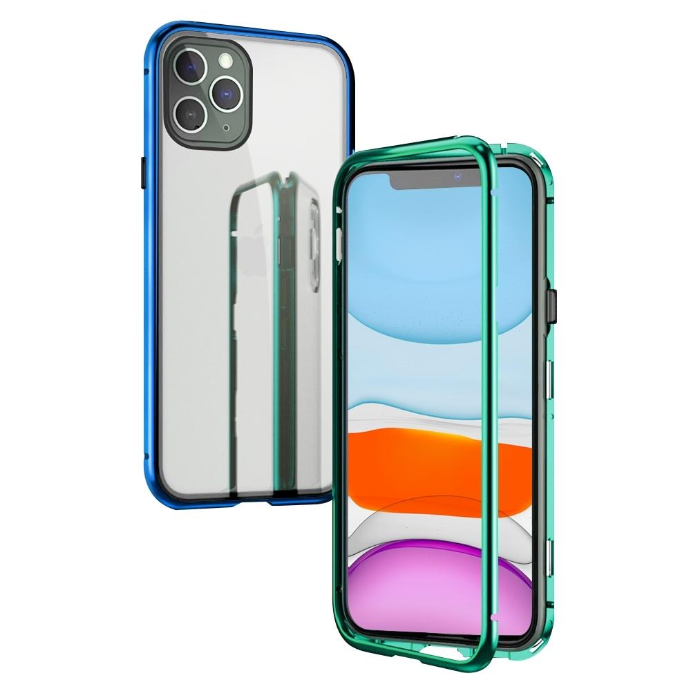 iPhone 11 Pro 手機殼 金屬磁吸 單面玻璃殼 鋼化玻璃手機殼 (iPhone11Pro手機殼 iPhone11Pro保護殼 )