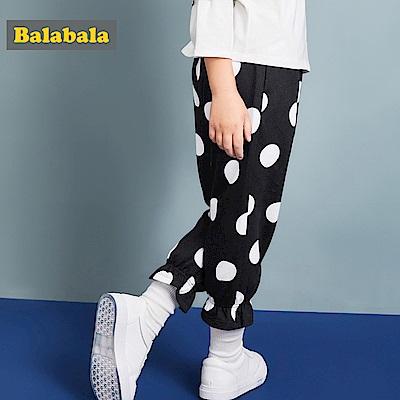 Balabala巴拉巴拉-傘型變化休閒感喇叭褲-女(2色)