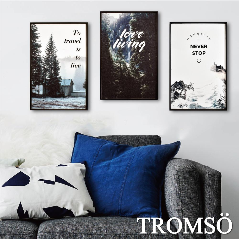 TROMSO 北歐生活版畫有框畫-森林樂活WA62(三幅一組)