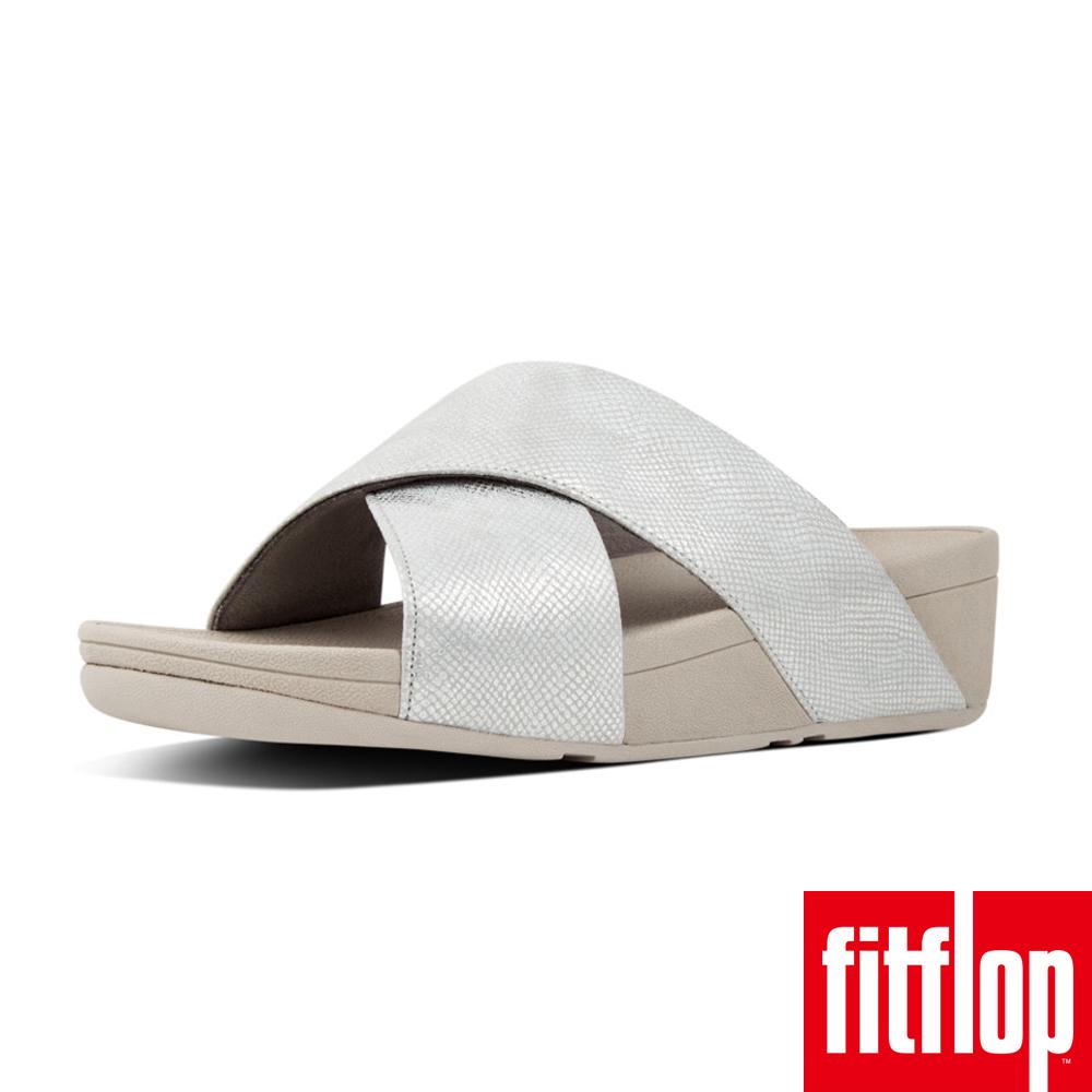 FitFlop LULU SLIDE SHIMMER-銀色