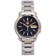 SEIKO 五號機機芯款機械不鏽鋼錶帶手錶(SNKL79K1)-藍面x金色/37mm product thumbnail 1