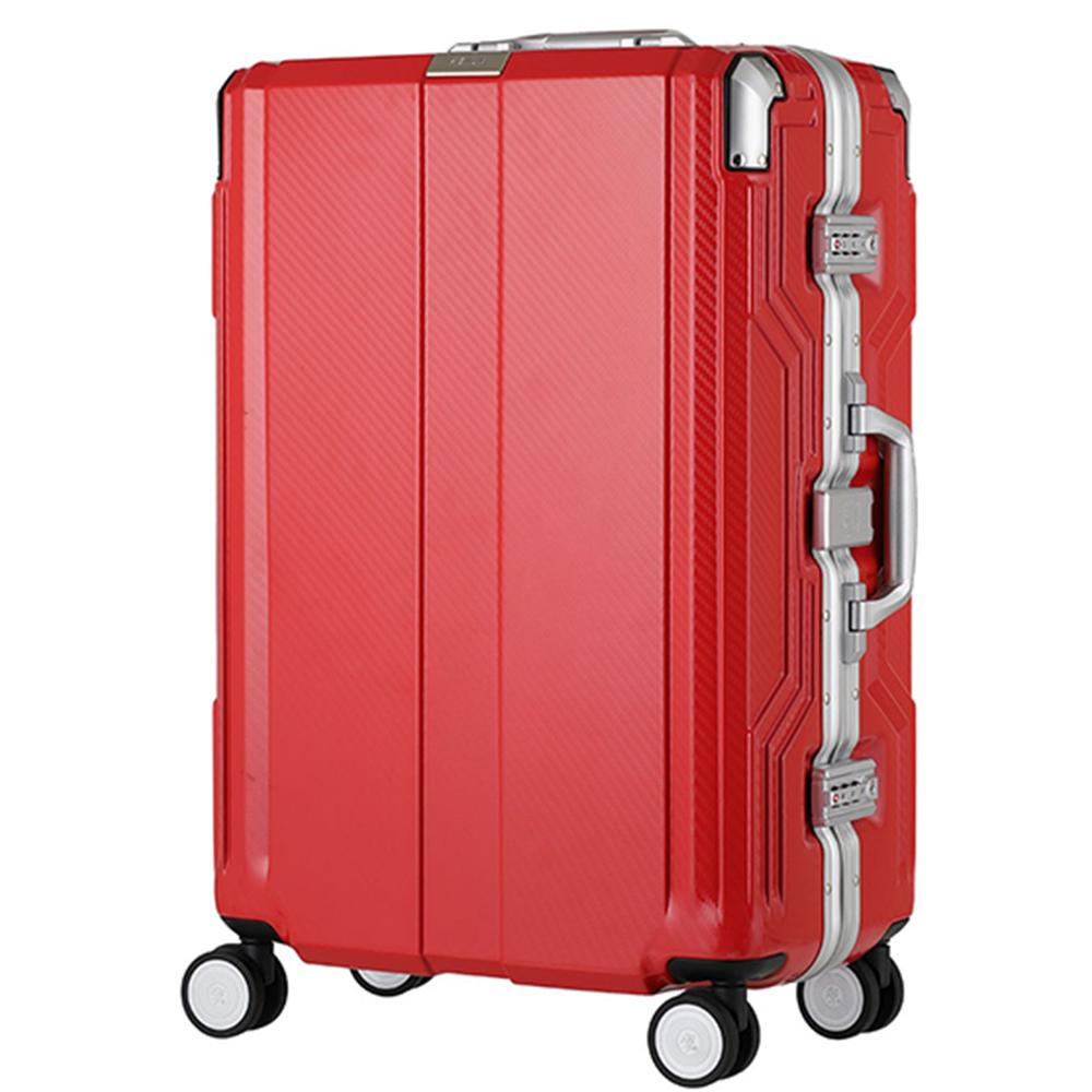 日本LEGEND WALKER 6720-62-25吋 發光圓環把手行李箱 美洲紅