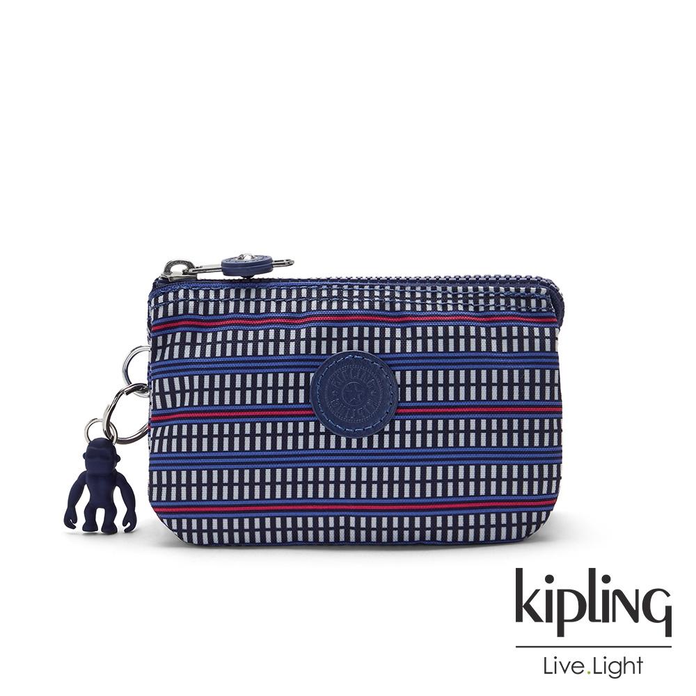 Kipling 圖騰拼接印花三夾層配件包-CREATIVITY S