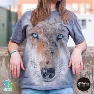 摩達客-美國進口The Mountain 鷹眼狼  純棉環保藝術中性短袖T恤