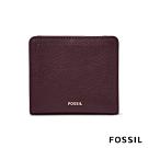 FOSSIL LOGAN 真皮RFID短夾-無花果紫紅色
