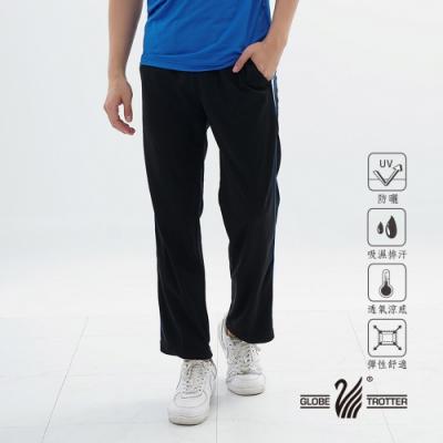 【遊遍天下】MIT男款吸排抗UV運動長褲 GP1013黑色