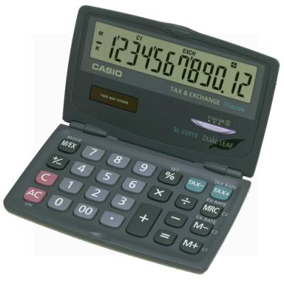 CASIO 12位元攜帶型可折疊計算機(SL-220TE)