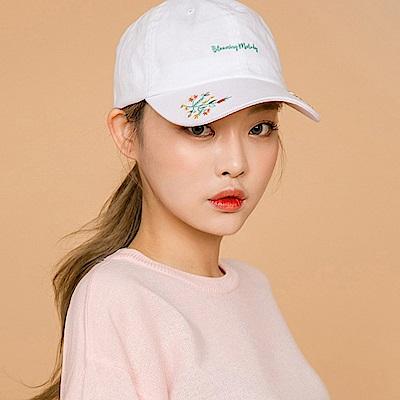 梨花HaNA 韓國純白刺繡緹花棒球帽