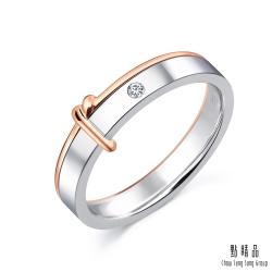 同心結 18K金鑽石結婚戒指-女戒