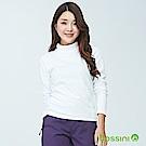 bossini女裝-高領刷毛上衣乳白