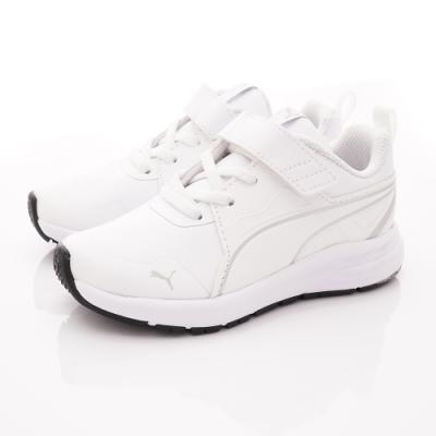 PUMA童鞋 輕量皮質運動鞋款 TH70666-02白(中小童段)