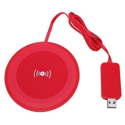VANTEC 薄型無線充電盤 VAN-100R ( 紅色)