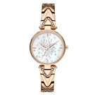 ELLE 巴黎之夜系列貝殼面腕錶-玫瑰金X白(ELL21043)/33mm