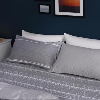 Jumendi喬曼帝 200織精梳純棉-特大床包三件組-夜旅時光