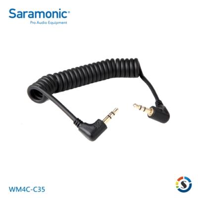 Saramonic楓笛 WM4C-C35 彈簧連接線(3.5mm轉3.5mm)
