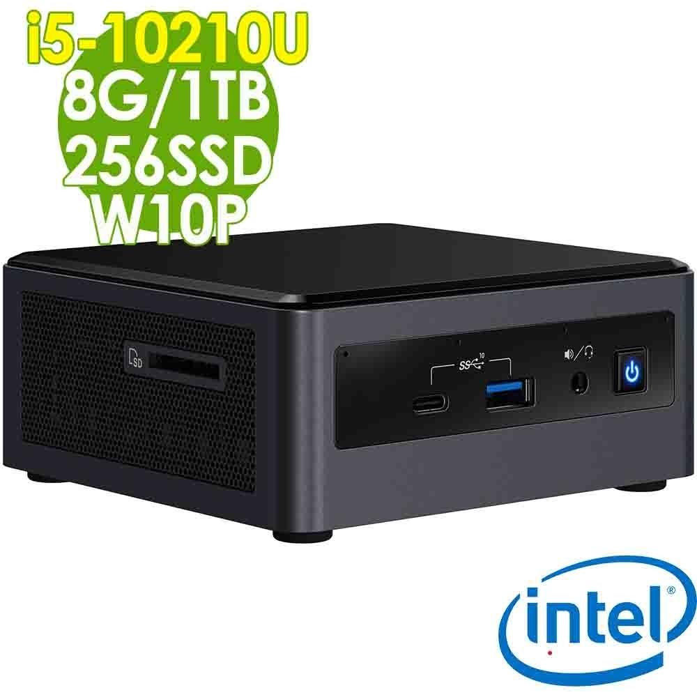 Intel 雙碟商用迷你電腦 NUC i5-10210U/8G/256SSD+1TB/W10P