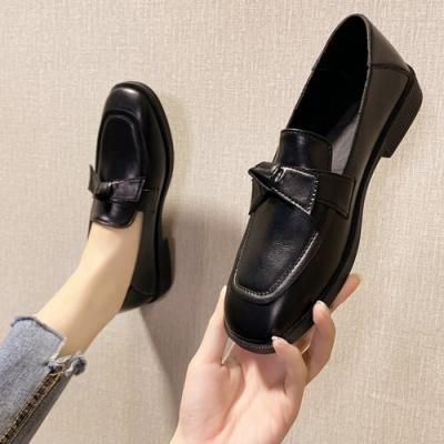KEITH-WILL時尚鞋館 夏氛調皮活蝶結英倫風格小皮鞋-黑