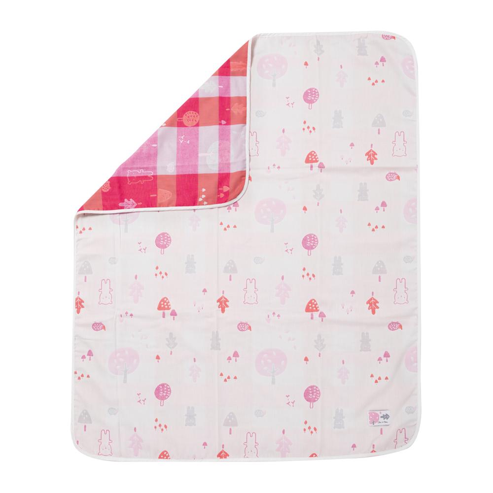 奇哥 森林家族四層紗布被-粉紅(90x100cm)