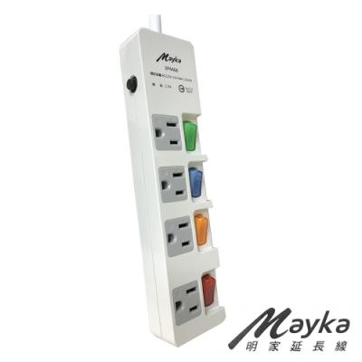 Mayka 明家 3P4468-15 4插4開 電腦延長線 15呎 4.5米