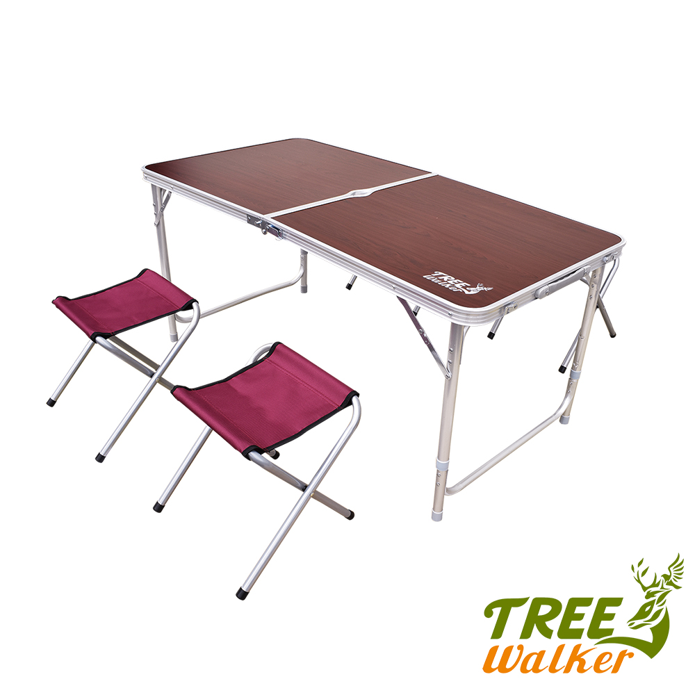 Tree Walker 露遊聚休閒桌椅組 酒紅