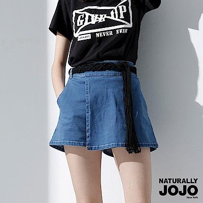 【NATURALLY JOJO】 實搭牛仔短褲裙 (牛仔)