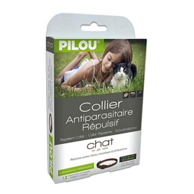 法國皮樂Pilou第二代加強升級-非藥用除蚤蝨項圈-成貓用(35cm)
