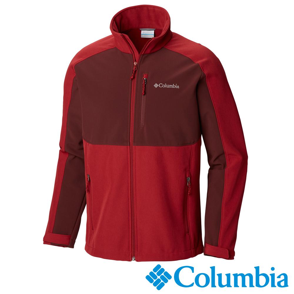 Columbia哥倫比亞 男款-立領彈性軟殼外套- 紅色 UWM12230RD