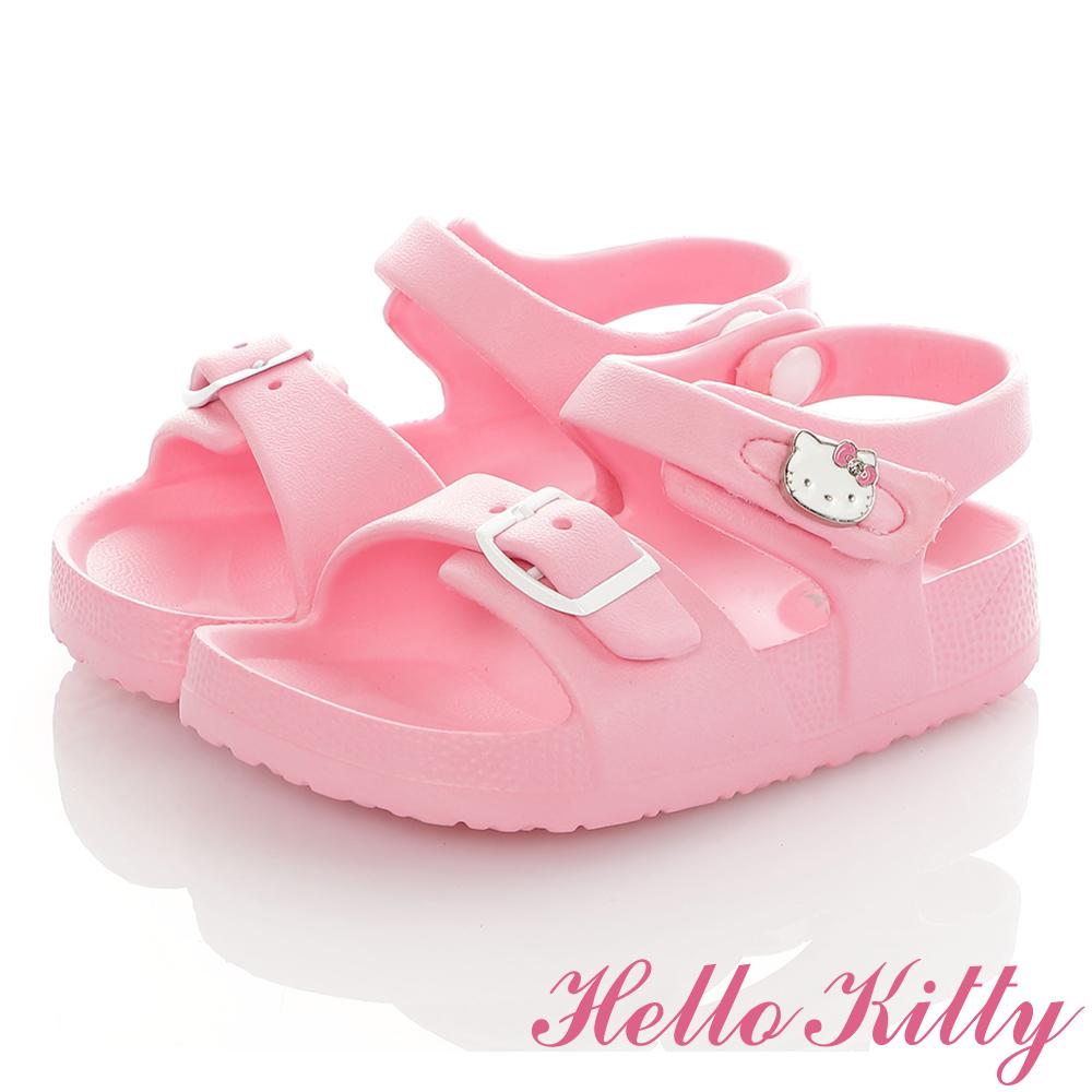 HelloKitty童鞋 極輕量吸震腳床型休閒涼鞋-粉