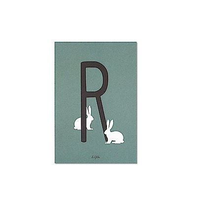 Dailylike 英文字母插畫明信片-18 R