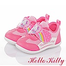 HelloKitty 彩虹系列 輕量透氣抗菌防臭減壓學步童鞋-桃