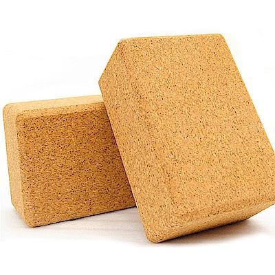 80D加厚天然軟木塞瑜珈磚塊-(快)