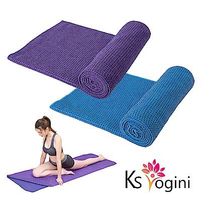 KS yogini 超細纖維 顆粒止滑瑜珈鋪巾 毛巾毯