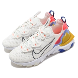 Nike 休閒鞋 React Vision 運動 女鞋 輕量 舒適 避震 簡約 球鞋 穿搭 白 藍 CI7523101