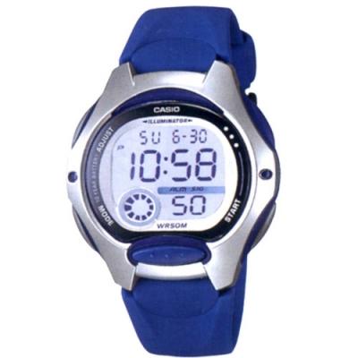 CASIO 超時空玩家電子運動錶-藍帶x銀框(LW-200-2A)/37.9mm