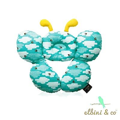 【Elbini&co 優寶兒】護頸蝴蝶枕 雲中燕(藍)