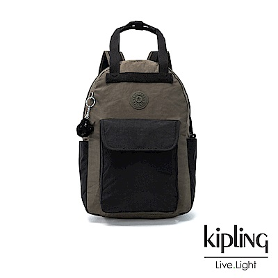 Kipling 低調百搭大地系撞色手提雙肩後背包(大)-TIMIL