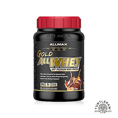 (買再送搖搖杯)【加拿大ALLMAX】奧美仕金牌乳清蛋白巧克力口味飲品1瓶 (907公克)效期2021/12