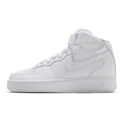 Nike AIR FORCE 1 07 MID 女休閒鞋-白-DD9625100