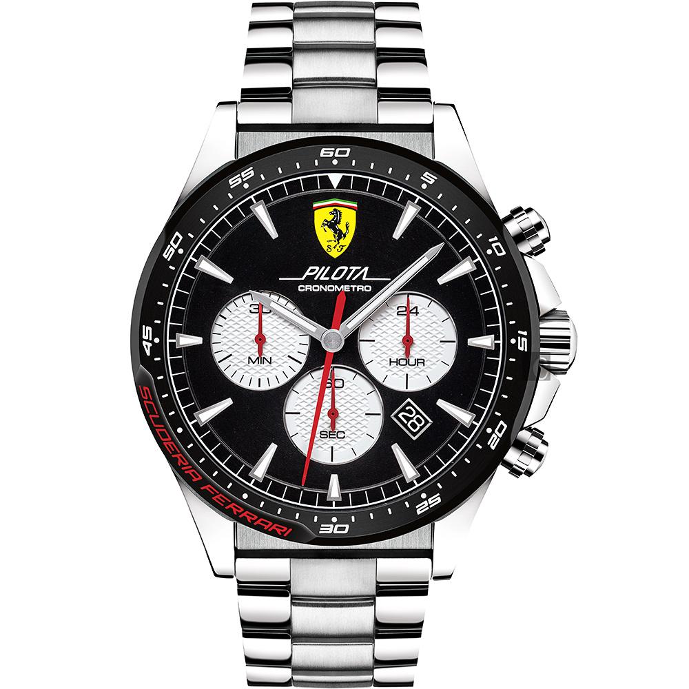 Scuderia Ferrari 法拉利 Pilota 賽車手計時錶(FA0830599)